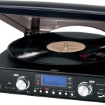 Jensen JTA-460 3-Speed Stereo Turntable with MP3 Encoding System and AM FM Stereo Radio