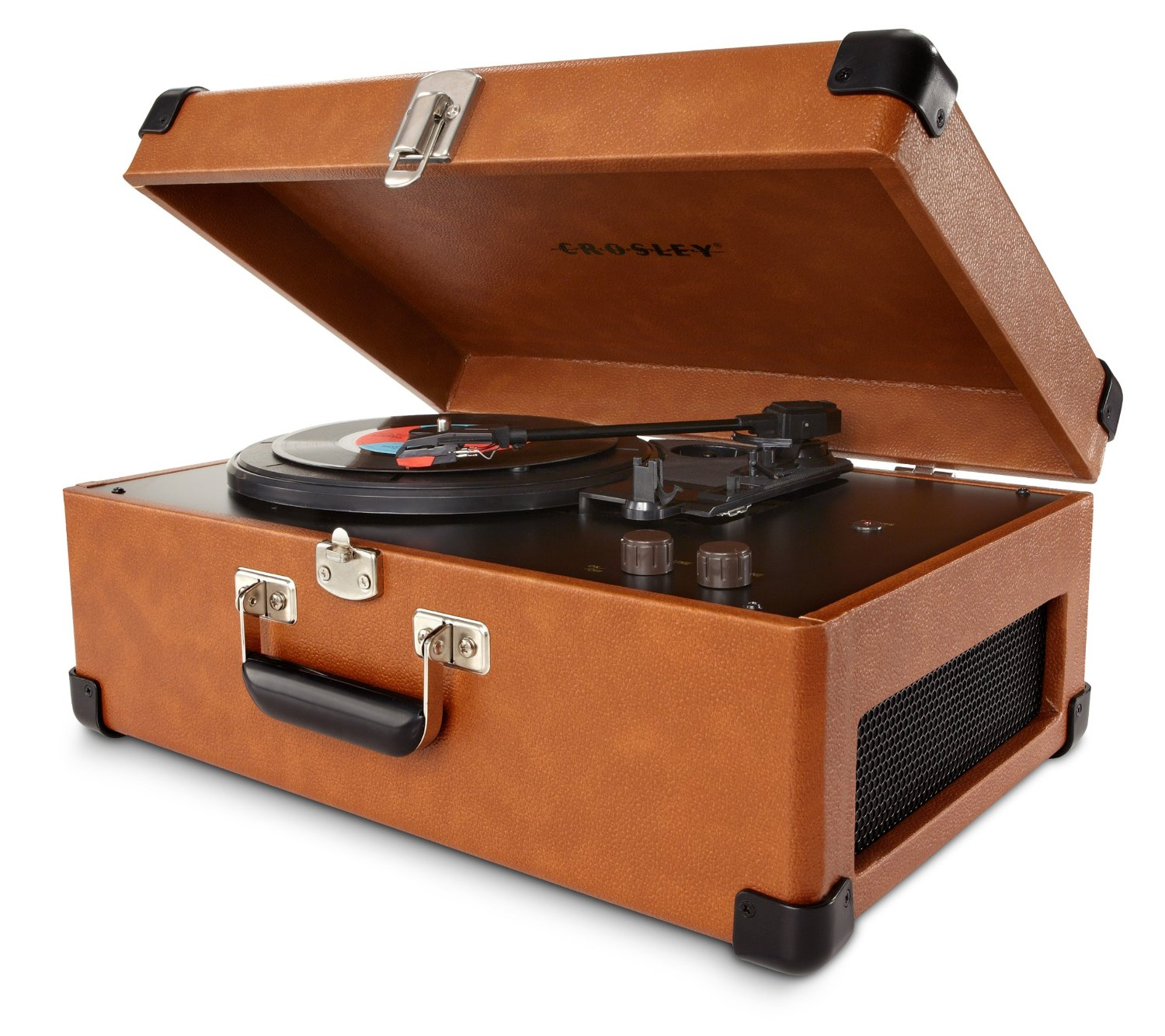 Suitcase Record Player  Style and transport in one piece