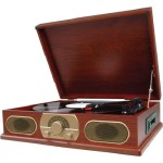 wooden turntable
