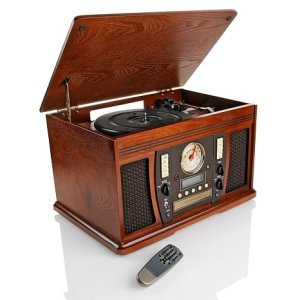 Aviator Wooden vinyl record player
