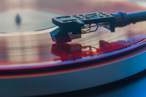 Needle on turntable or record player
