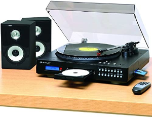 Record player with cd burner