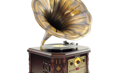 Pyle-Home Vintage Phonograph Horn Turntable
